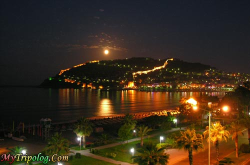A night view from Alanya,alanya,night,turkey,antalya