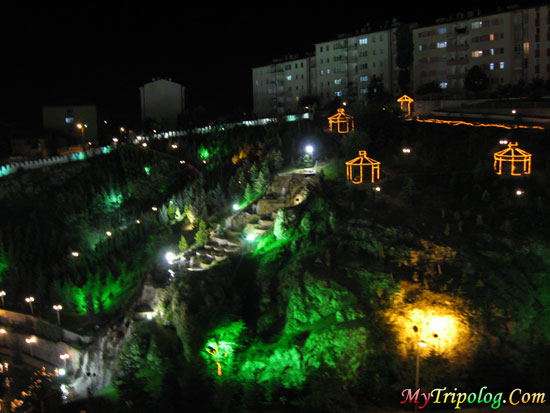 ankara at night,oppsite estergon castle,kecioren region