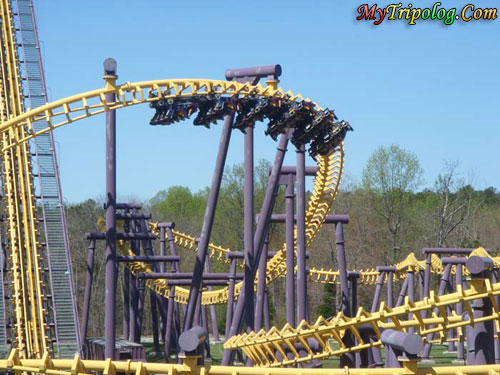 Another Crazy Ride; Batwings at SFA,batwings,roller coaster,six flags,america