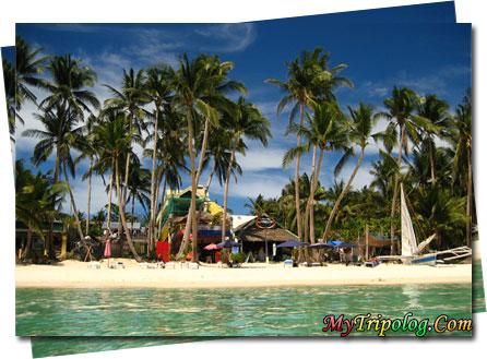 a wonderful boracay beach,sea,sand,shop