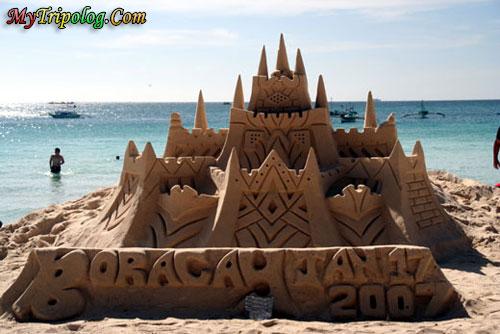 a fantastic sand castle work in boracay,boracay,sand castle,philippines