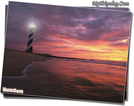 cape-hatteras-sunset-lighthouse-NC-buxton-USA-vacation-island
