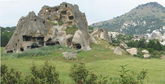 cappadocia in goreme nevsehir,peri bacalari,nevsehir,turkey