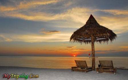 sunset on beach boracay,club panoly,boracay,philippines,sunset