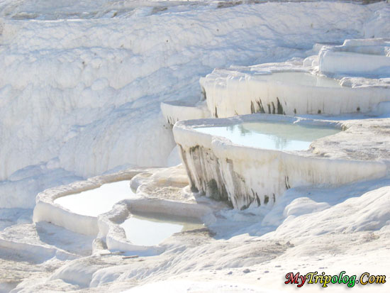 cotton castle pamukkale in denizli city turkey,denizli,pamukkale,cotton castle,turkey