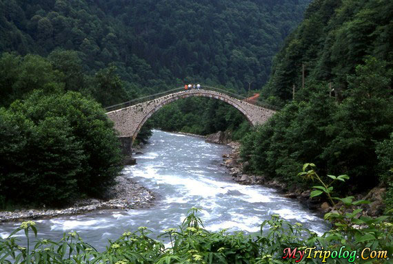 firtina river in camlihemsin rize,stream,turkey,bridge,landscape
