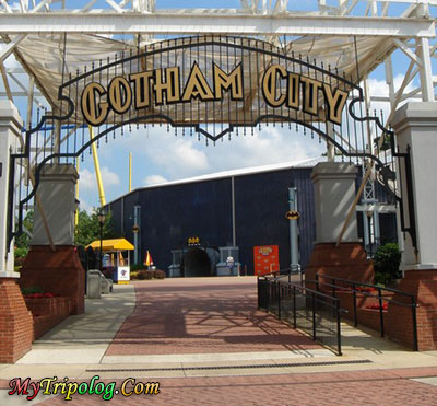 gotham city entrance,six flags america,gotham city
