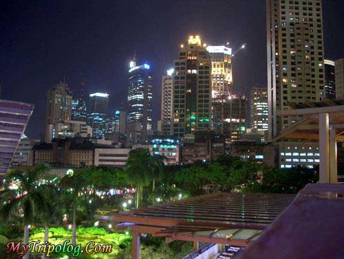 greenbelt at night in makati,makati,manila,philippines