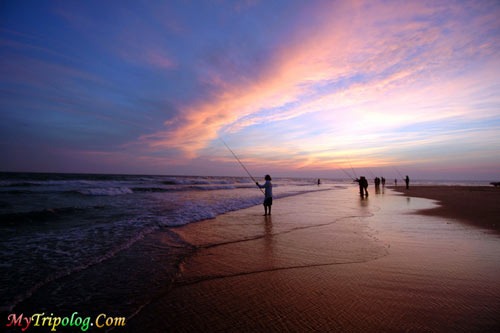 Fishing men on Hatteras Island,hatteras,beach,sunset