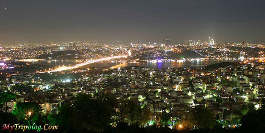 Istanbul city at night,istanbul,night,city,lights,turkey
