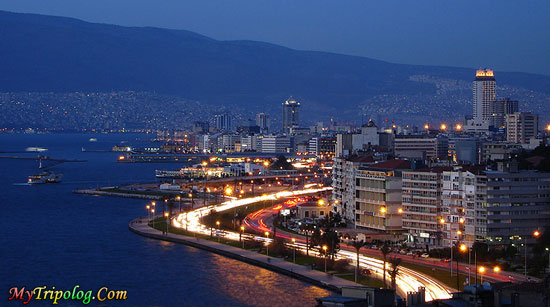 Izmir City Night View,izmir,night,turkey