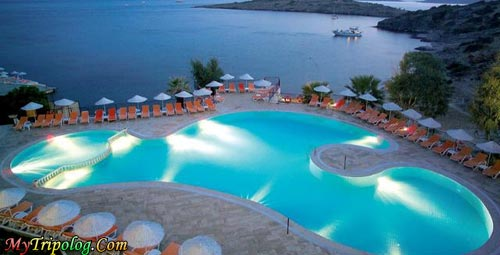 a pool and sea shore in bodrum,joy club,bodrum,mugla,turkey