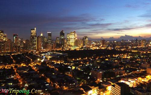 manila skyline at night,philippines,makati,city at night