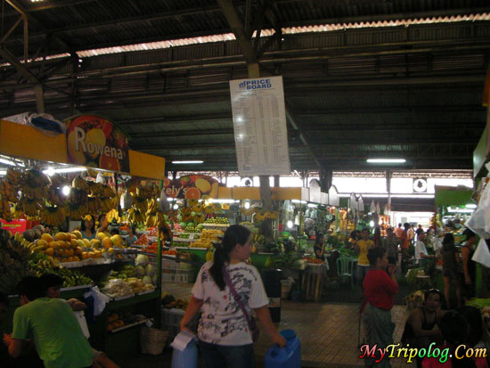a Market Place in Manila,wet