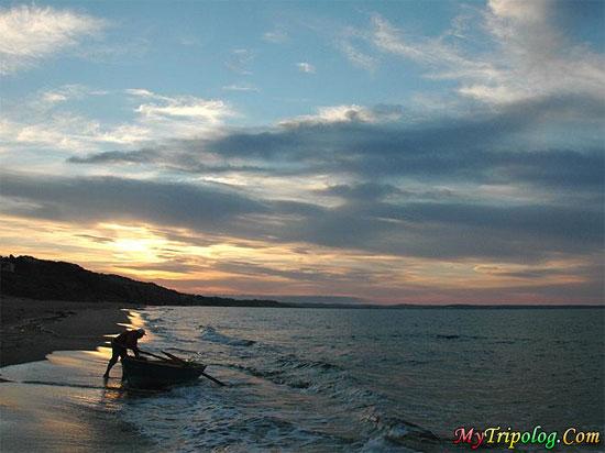 sunset in sinop,lonely,boatman,beach,turkey,landscape
