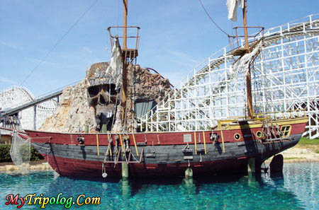 six flags america,largo,washignton,baltimore,skull island ship