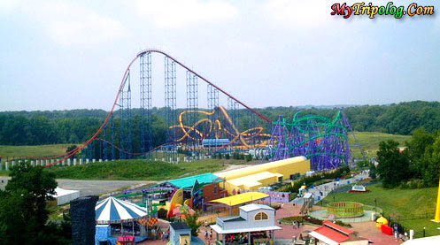 A View of Six Flags America Amusemtn Park in Largo,six flags america,largo,washignton,baltimore,general view