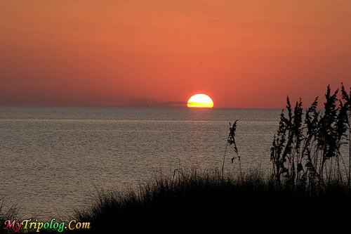 Excellent sunset view on pamlico sound,hatteras,sunset,pamlico,sound,island