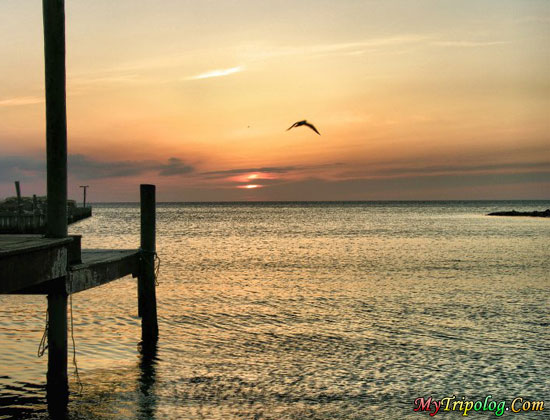 sunset on pamlico sound,buxton,sunset,sea,USA,north carolina,vacation in hatteras