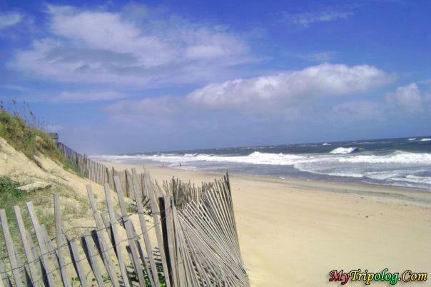 (North Carolina's Outer Banks, Beach in Buxton; I took the photo just before