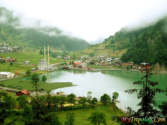 uzungol in trabzon,lake,landscape,turkey,mosque,trabzon