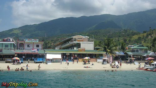 White Beach From Sea,white beach,puerto-galera,sea,philippines