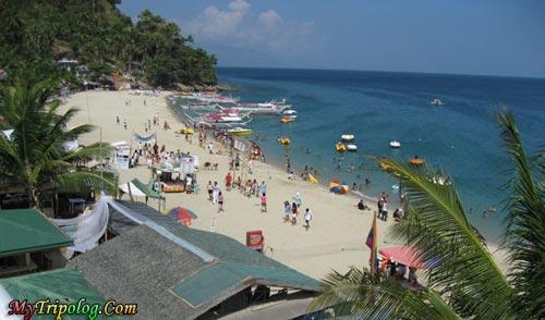 people on white beach,puerto galera,philippines,white beach