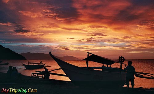 Sunset on white beach, sunset, white beach, puerto galera