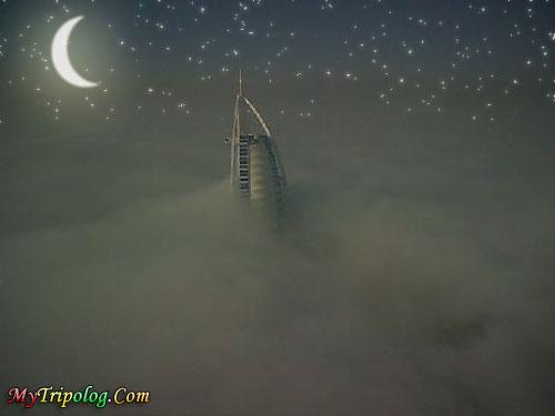burj al arab hotel,dubai hotel,dubai at night,stars,crescent,dubai view,photosop design