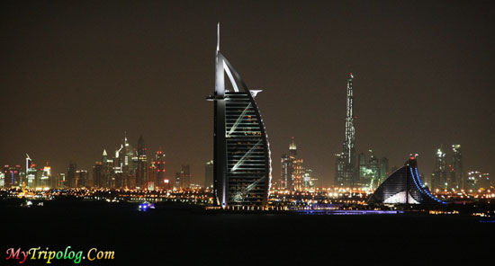 burj al arab,jumeirah beach hotel,burj dubai,view at night,dubai,uae,wallpaper