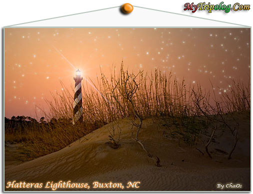 cape hatteras lighthouse post card,post card,night stars,buxton,north carolina,usa,by chaos