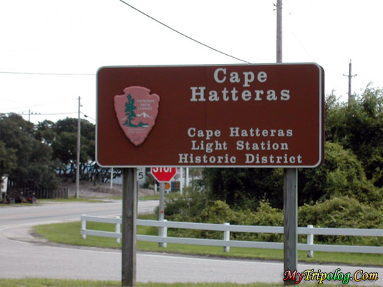 cape hatteras road sign to the lighthouse,cape hatteras lighthouse,buxton,NC,USA,Highway 12