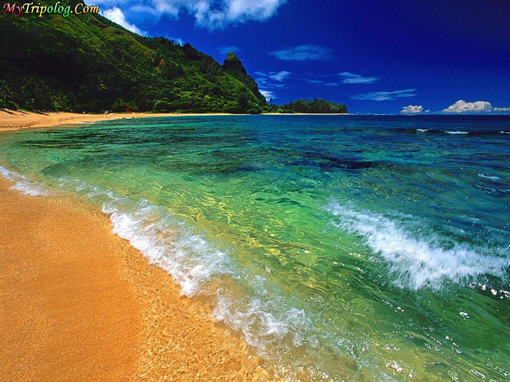 a beach in kauai hawaii,hawaii,wallpaper,beach,kauai