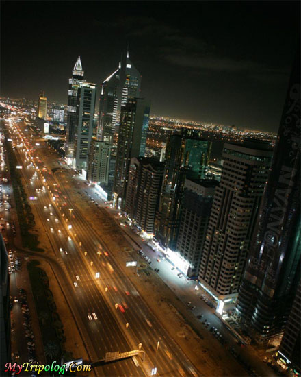dubai street at night,dubai,brd's eye view,uae,wallpaper