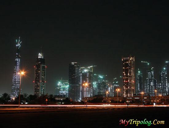 dubai street at night,burj dubai,skyscrapers,dubai view,dubai wallpaper