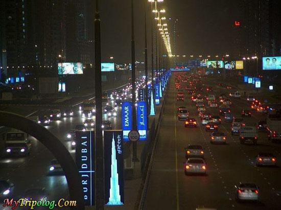 dubai traffic at night,dubai,traffic,night,uae,view,wallpaper