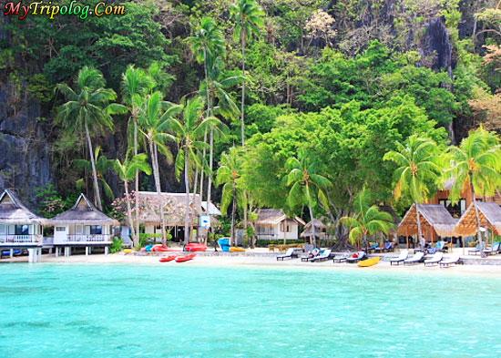 Philippines beach,el nido beach,accomodation and hotels in el nido,palawan,summer vacation