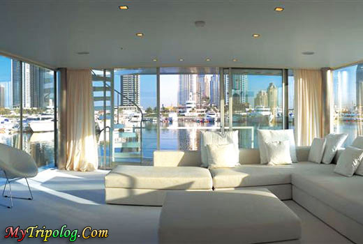 floating houseboat,dubai,view,uae,intersting house,