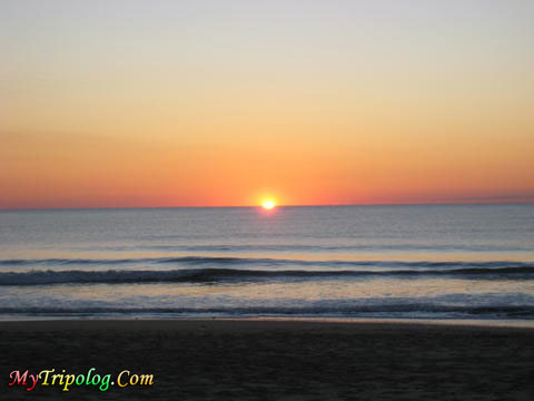 spectacular hatteras sunrise,usa,nc,sunrise,sea,beach,hatteras
