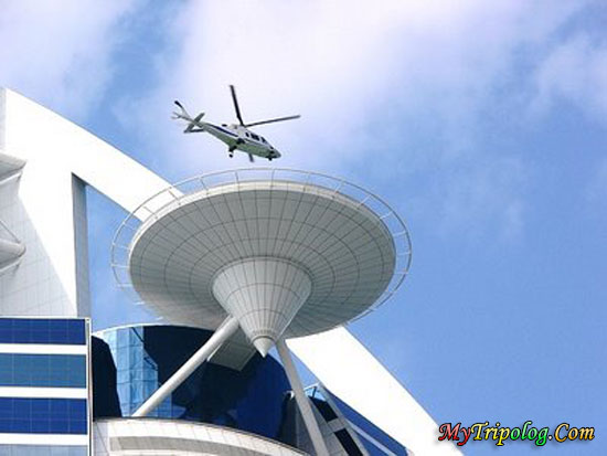 helipad and helicopter on burj al arab,dubai,burj al arab,helipad,helicopter,hotel in dubai