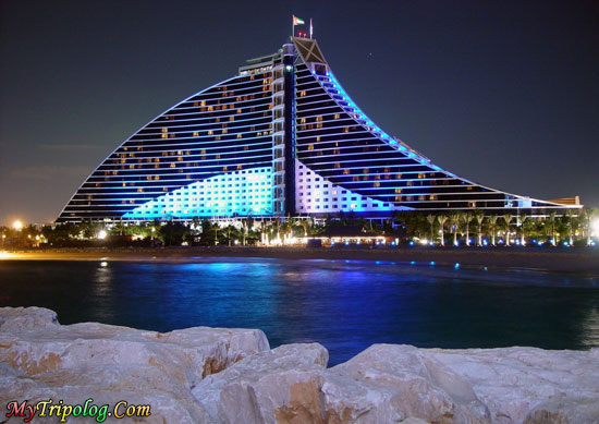 jumeirah beach hotel,night,dubai,view,appartament,villa,wallpaper