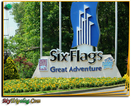 six flags great adventure entrance,USA amusement parks,new jersey