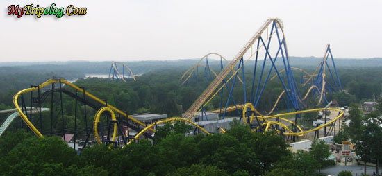 six flags great adventure,nitro and batman rides,new-jersey,USA theme parks