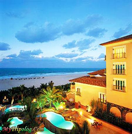 the ritz carlton hotel,dubai,dubai view,dubai hotels,horizon,swimming pool