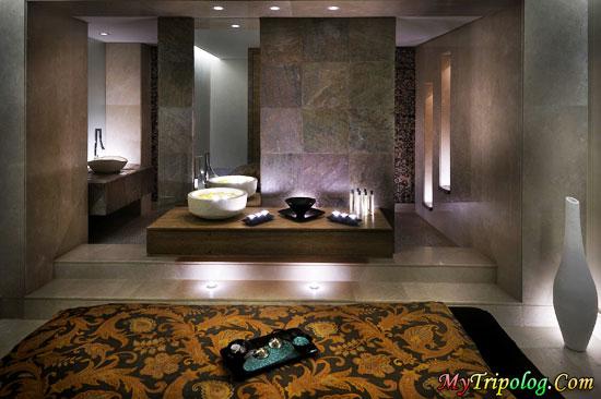 the spa at the downtown burj dubai,burj dubai spa,dubai hotels,dubai hotel room