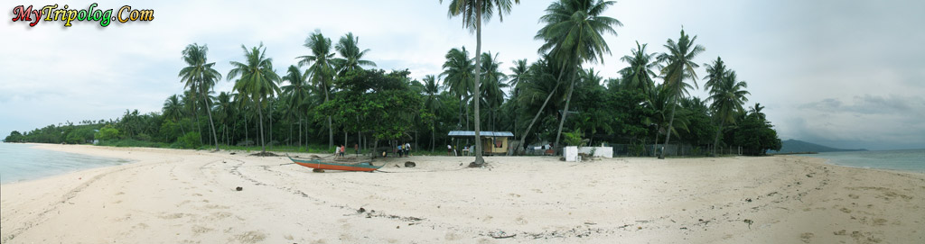 beach badian,cebu,philippines,panaromic photo