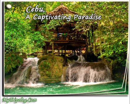 cebu,kasawan falls,wonders of cebu,philippines,postcard,photoshop design