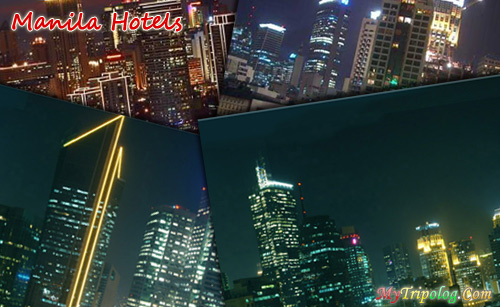 manila hotels,postcard,philippines hotels,photoshop design,manila at night