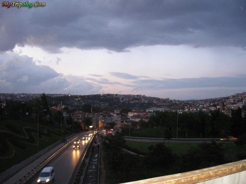 turkey wallpaper,rain,sunset,bridge,istanbul,traffic