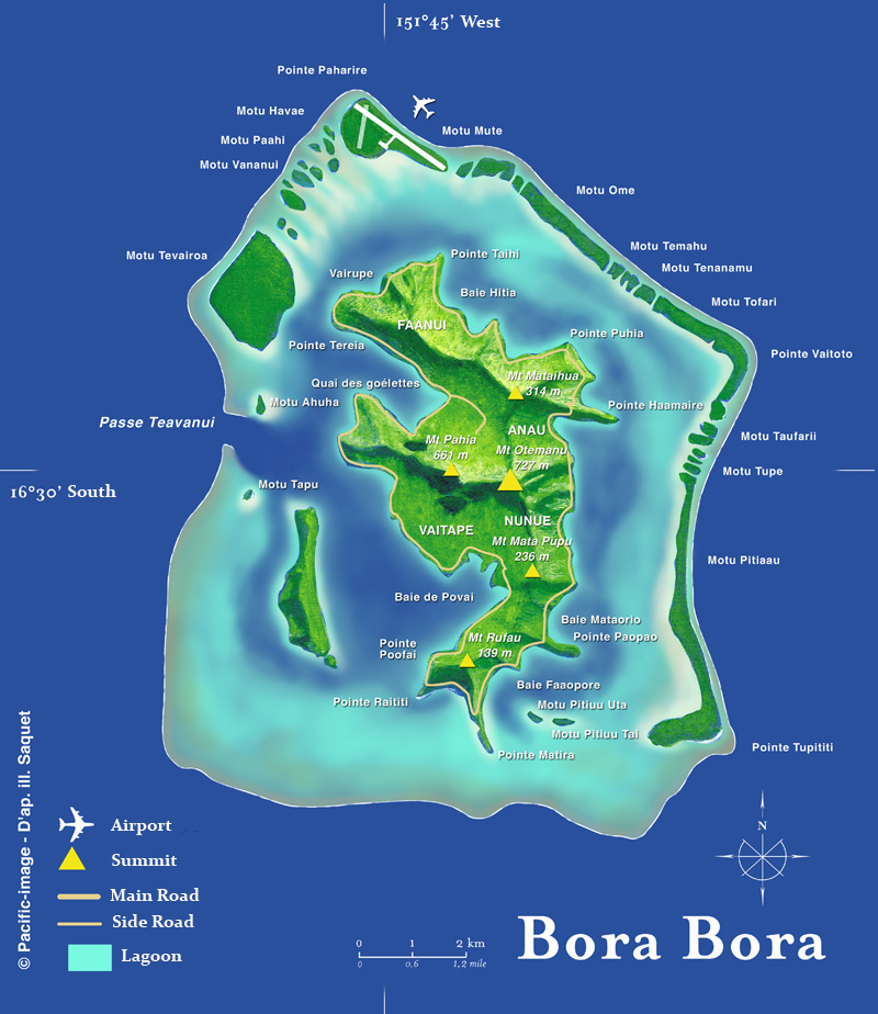 bora bora map big size – Travel Around The World – Vacation Reviews